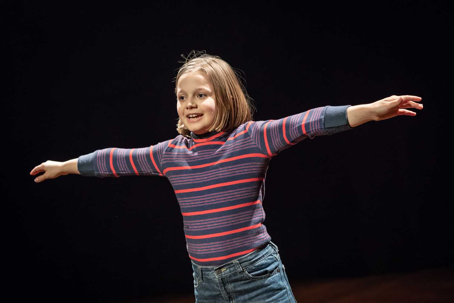 Harriet Turnbull in Fun Home at the Young Vic. Photo by Marc Brenner