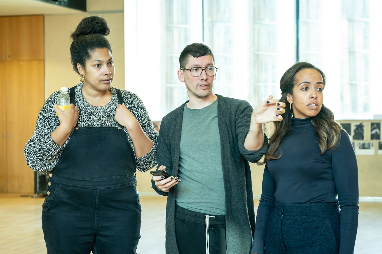 Jackie Sibblies Drury (playwright), Tom Scutt (designer) Nadia Latif (director) Fairview (c) Marc Brenner