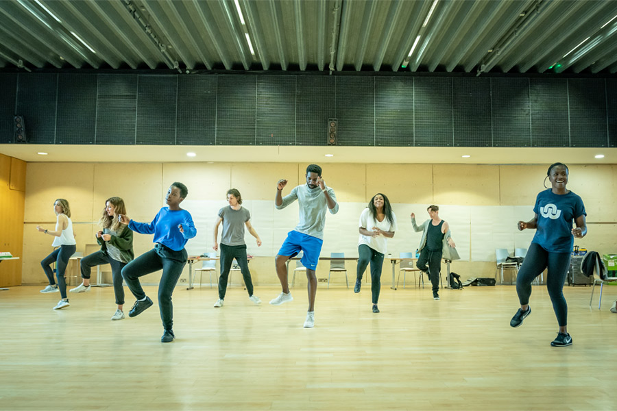 The company of Fairview in rehearsal (c) Marc Brenner