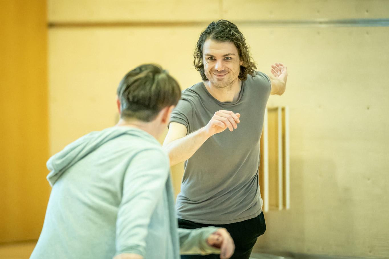 Matthew Needham in rehearsal for Fairview (c) Marc Brenner
