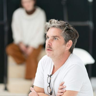 Gerard Carey in rehearsal for Twelfth Night. Photo by Johan Persson