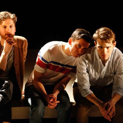 Kyle Soller, Samuel H. Levine & Andrew Burnap in The Inheritance. Photo by Simon Annand.