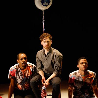 Syrus Lowe, Kyle Soller and Michael Walters in The Inheritance. Photo by Simon Annand.