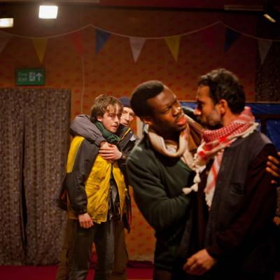 The cast of The Jungle at the Young Vic © David Sandison