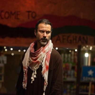 Ben Turner (Salar) in The Jungle at the Young Vic © David Sandison