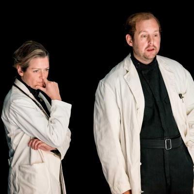 Emily Wachter and David Emmings in Wings at the Young Vic. Credit Johan Persson