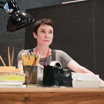Kaisa Hammarlund in rehearsal for Fun Home at the Young Vic. Photo by Marc Brenner