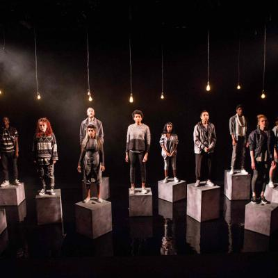 The Company in Start Swimming. Photo by Helen Murray