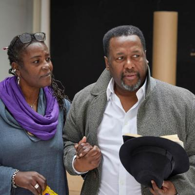 Sharon D Clarke and Wendell Pierce rehearse Death of a Salesman, YoungVic2019 (c) BrinkhoffMögenburg