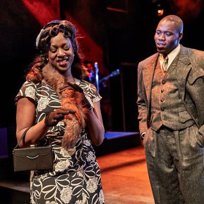 Jennifer Saayeng and Martins Imhangbe. Death of a Salesman (c) Brinkhoff Mogenburg