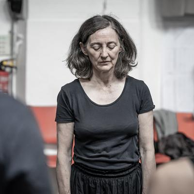 Bríd Brennan in rehearsals for Blood Wedding. Young Vic 2019. Photo by Marc Brenner.