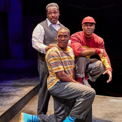 Wendell Pierce, Arinze Kene and Martins Imhangbe. Death of a Salesman (c)