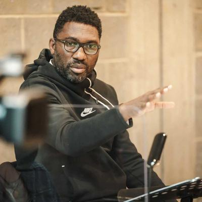 Image of Kwame Kwei-Armah during Changing Destiny rehearsals