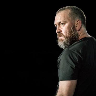 Brendan Cowell in Life of Galileo at the Young Vic. Photo by Johan Persson.