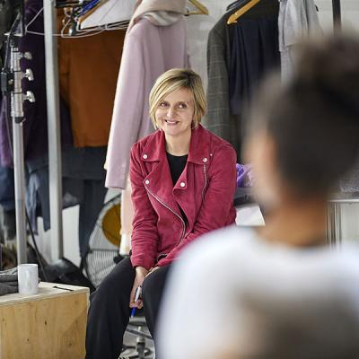 Marianne Elliott (co-director) in rehearsal for Death of a Salesman, Young Vic 2019 (