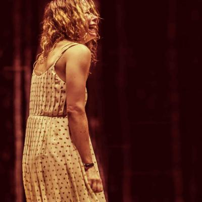 A distored Billie Piper (Her) in Yerma at the Young Vic by Johan Persson