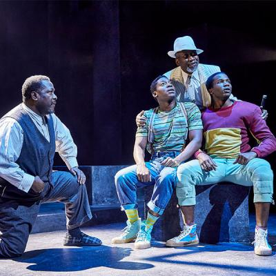 Wendell Pierce, Sope Dirisu, Joseph Mydell, Natey Jones. Death of a Salesman (c) Brinkhoff Mogenburg
