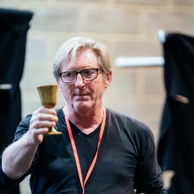 Adrian Dunbar rehearses Hamlet at Young Vic