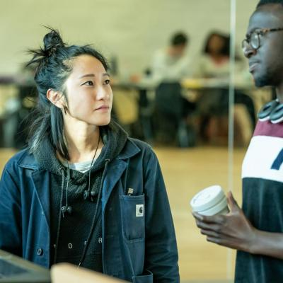 Jessica Hung Han Yun (Lighting Designer) & Robert Awosusi (Jerwood Assistant Director) Fairview © MarcBrenner