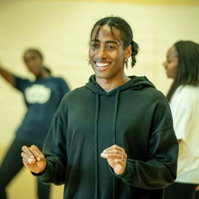 Malik Nashad Sharpe (choreographer) in rehearsal for Fairview © Marc Brenner