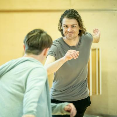 Matthew Needham in rehearsal for Fairview © Marc Brenner