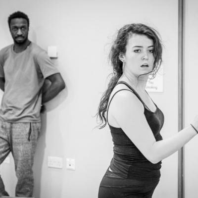 Anna Russell-Martin and Zephryn Taitte in Nora: A Doll's House in rehearsal (c) Marc Brenner