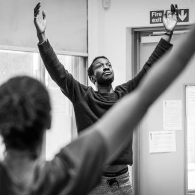 Zephryn Taitte in Nora: A Doll's House in rehearsal (c) Marc Brenner