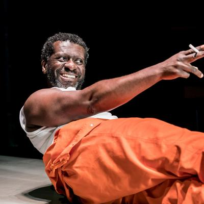 Oberon K. A. Adjepong in Jesus Hopped the 'A' Train at the Young Vic. Photo by Johan Persson