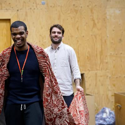 Caleb Roberts and Arthur Wilson in rehearsal for She Ventures and He Wins © Anthony Lee