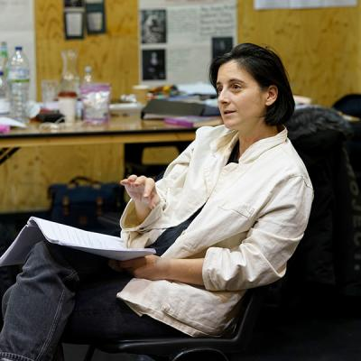Sasha Milavic Davies in rehearsal for She Ventures and He Wins © Anthony Lee