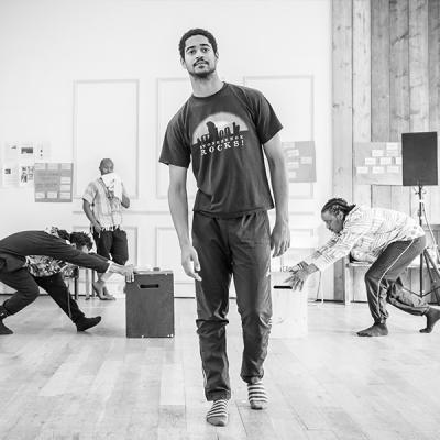 Alfred Enoch in Tree at the Young Vic. Photo by Marc Brenner.