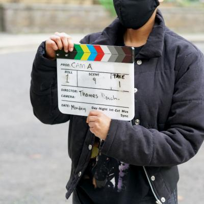 Behind the scenes of HOME(BODY) filming. Photos by Anthony Lee (2020)