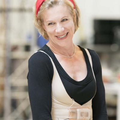 Juliet Stevenson in rehearsals for Wings at the Young Vic. Credit Johan Persson