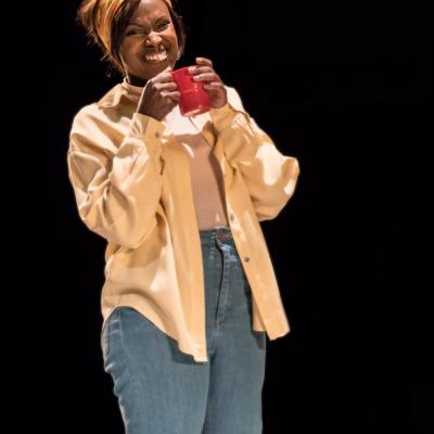 Kelle Bryan in Wings at the Young Vic. Credit Johan Persson