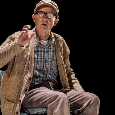 Nicholas Gasson in Wings at the Young Vic. Credit Johan Persson