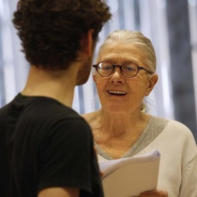 Vanessa Redgrave in rehearsal for The Inheritance