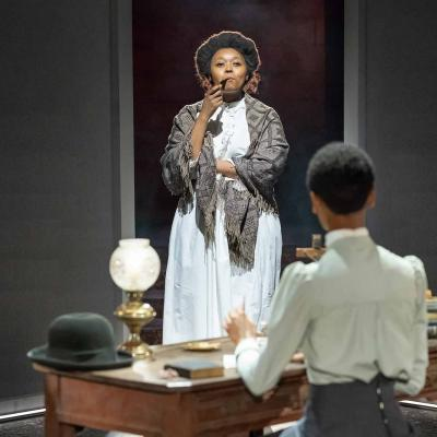 Luyanda Unati Lewis-Nyawo & Letitia Wright in The Convert at the Young Vic. Photo by Marc Brenner.