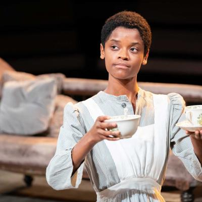 Letitia Wright in The Convert at the Young Vic. Photo by Marc Brenner.