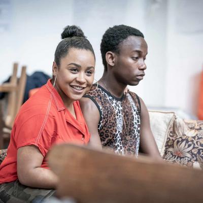 Ola Ince and Rudolphe Mdlongwa in rehearsal