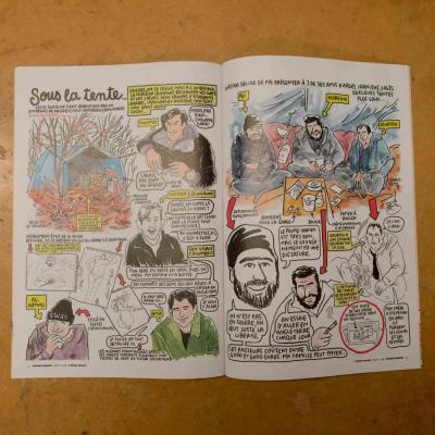 An illustration from the French magazine Charlie Hebdo the YV Wardrobe department
