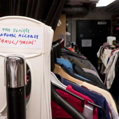 Costumes for The Jungle in the YV Wardrobe department