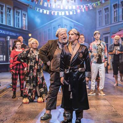 Martyn Ellis and Gerard Carey in Twelfth Night. Photo by Johan Persson.