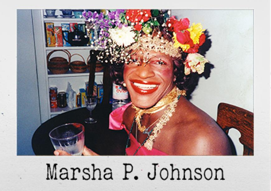 Image: Marsha P. Johnson © Netflix/courtesy of Everett Collection Inc & Alamy Stock Photo.
