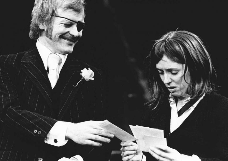 Michael Byrne and Jane Wood in the 1973 production of A Taste of Honey