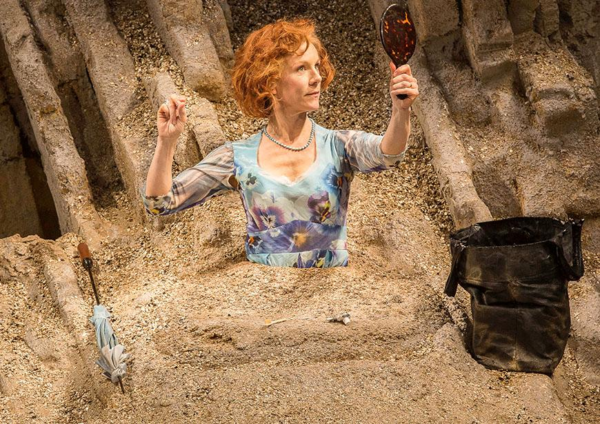 Juliet Stevenson as Winnie in Happy Days. Photo by Johan Persson.