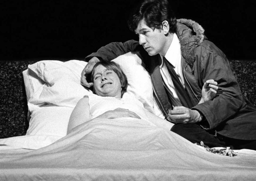 . Ian McKellen and Gemma Jones in the 1975 production of Ashes by David Rudkin
