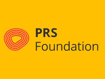 5 red wave forms in increasing size beside PRS Foundation text