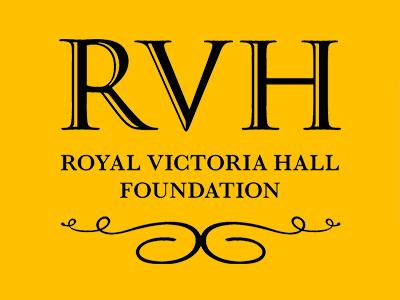 RVH above Royal Victoria Hall Foundation and detail