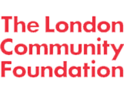 A red The London Community Foundation logo
