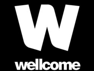 A black Wellcome Trust logo